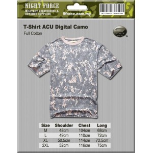 MIL-SPEC ACU Digital Camo Tshirt (Full Cotton)
