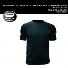 NF COMBAT SHIRT (V2.0, MORE FIT AND COMFORTABLE, BLACK S/S, CQB/UBEC/FROG) - CQB4700