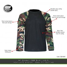 NF COMBAT SHIRT (V2.0, MORE FIT AND COMFORTABLE, JUNGLE CAMO L/S, CQB/UBEC/FROG)-CQB5800