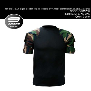 NF COMBAT SHIRT (V2.0, MORE FIT AND COMFORTABLE, CAMO S/S, CQB/UBEC/FROG) - CQB5700