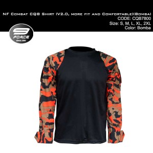 NF COMBAT SHIRT (V2.0, MORE FIT AND COMFORTABLE, FIRE CAMO L/S) - CQB7800