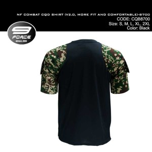 NF COMBAT SHIRT (V2.0, MORE FIT AND COMFORTABLE, DIGITAL CAMO S/S, CQB/UBEC/FROG) - CQB8700