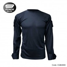 NF COMBAT SHIRT (V2.0, MORE FIT AND COMFORTABLE, OPS BLACK L/S, CQB/UBEC/FROG) - CQB4800
