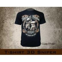 T-shirt 3D Sniper