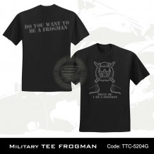 Military Tee FROGMAN (Black) - TTC5204G