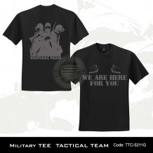 MILITARY TEE TACTICAL TEAM (BLACK)-5211G