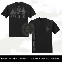MILITARY TEE SPECIAL AIR SERVICE (BLACK)-5214G