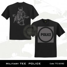 MILITARY TEE POLICE (BLACK)-5216G