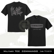 Military Tee COMMANDO (Black) - TTC5217G