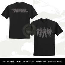 MILITARY TEE SPECIAL FORCES (BLACK)-5221G