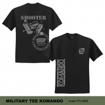 MILITARY TEE KOMANDO SHOOTER (BLACK)-TTC5233G
