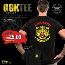 GGK Series Military Tee, Full Cotton, Gerakhas, Komando - TT1001