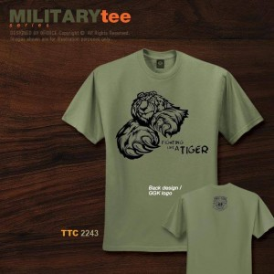 Military Tee FIGHTING LIKE A TIGER - TTC2243