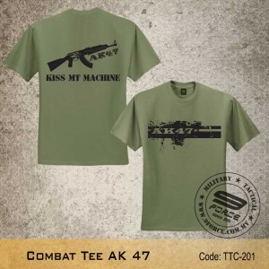 MILITARY TEE AK 47, OD GREEN, TTC201