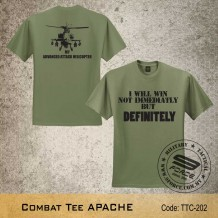 MILITARY TEE APACHE, OD GREEN, TTC202