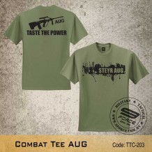 MILITARY TEE AUG, ARMY GREEN, TTC203
