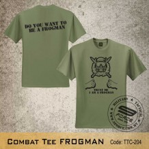 Military Tee FROGMAN (OD Green) - TTC204