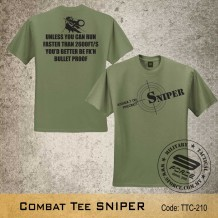 MILITARY TEE Combat Tee SNIPER(OD GREEN), FREE SHIPPING OFFER NOW! - TTC210