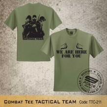 Military Tee TACTICAL TEAM (OG Green) - TTC211