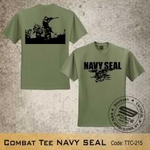 Military Tee NAVY SEAL (OD Green) - TTC215