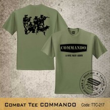 MILITARY TEE COMMANDO, OD GREEN, TTC217