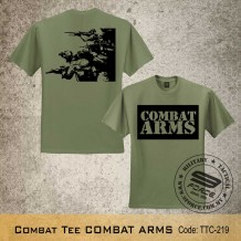 MILITARY TEE COMBAT ARMS, ARMY GREEN, TTC219
