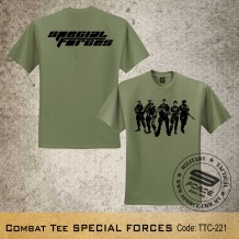 MILITARY TEE SPECIAL FORCES, OD GREEN, TTC221