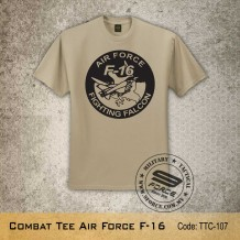 MILITARY TEE AIR FORCE F-16, Khaki, TTC107