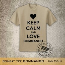 MILITARY TEE COMMANDO, KHAKI, TTC110
