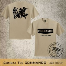 MILITARY TEE Combat Tee COMMANDO, FREE SHIPPING OFFER NOW! - TTC137