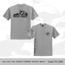MILITARY TEE NIGHT FORCE (SPORT GREY) - TTC3200