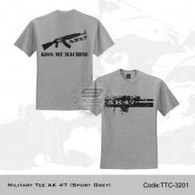 MILITARY TEE AK 47 (SPORT GREY) - TTC3201