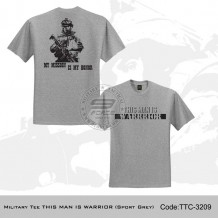 Military Tee THIS MAN IS WARRIOR (Sport Grey) - TTC3209