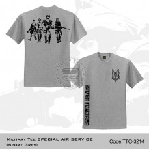 MILITARY TEE SPECIAL AIR SERVICE (SPORT GREY) - TTC3214