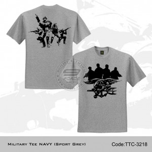 MILITARY TEE NAVY (SPORT GREY) - TTC3218