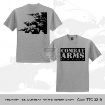 MILITARY TEE COMBAT ARMS (SPORT GREY) - TTC3219