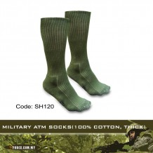 MILITARY ATM SOCKS(100% COTTON, THICK) - SH120