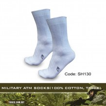MILITARY ATM SOCKS(100% COTTON, THICK) - SH130