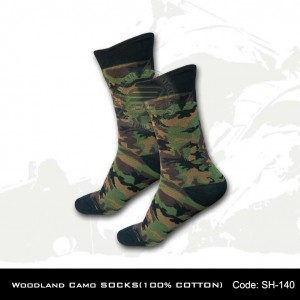 Woodland Camo SOCKS(100% COTTON)