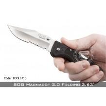 """SOG Magnadot 2.0 Folding 3.63"""" Combo Blade (100% Original, TOOL6715)"""