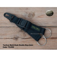 Tactical Multi-Hook Double Key-chain