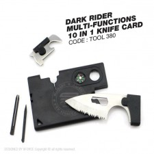 DARK RIDER MULTI-FUNCTIONS 10 IN 1 KNIFE CARD - TOOL380