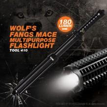 WOLF'S FANGS MACE MULTIPURPOSE FLASHLIGHT - TOOL410
