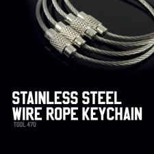 STAINLESS STEEL WIRE ROPE KEYCHAIN - TOOL470