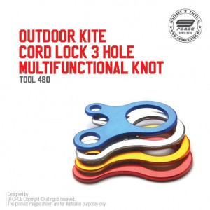 OUTDOOR KITE CORD LOCK 3 HOLE MULTIFUNCTIONAL KNOT- TOOL480