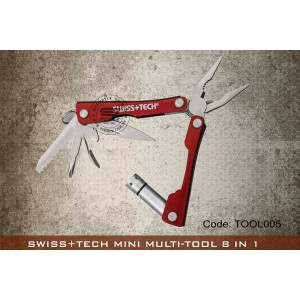 SWISS+TECH MINI MULTI-TOOL 8 IN 1 - TOOL005