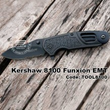 Kershaw Funxion EMT, Folding Knife, Carabiner, Paracord Cutter, Opener, Glass Breaker, TOOL8100