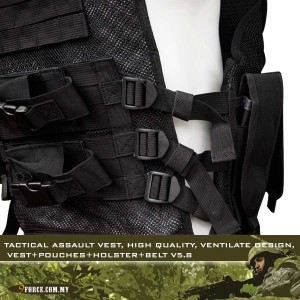 Tactical Assault Vest, high quality, ventilate design, Vest+Pouches+Holster+Belt V5.8