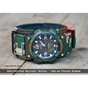 Destroyers Military Watch / Solar power engine / 1 year warranty (HW7410)