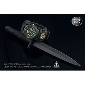 DIVER WATCH GERAKHAS SURVIVAL PARACORD - Limited Edition